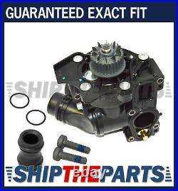 Audi VW Water Pump Thermostat Assy with Sensor Gasket Screws Coolant Pipe Seal Kit