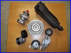 Bmw E39 Water Pump Fan Clutch Coolant Tank Tensioner and pulley Kit new