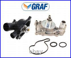 Coolant Thermostat + Water Pump with Gasket for Audi S5 RS5 A8 Quattro 4.2L V8