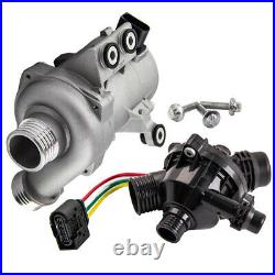 ELECTRIC COOLANT WATER PUMP+THERMOSTAT KIT For BMW 1/3/ 5/ 6/ 7ER X1 X3 X5