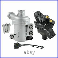Electric Coolant Water Pump+Thermostat Kit Fit for BMW 1 3 5 6 7 Series X1 X3 X5