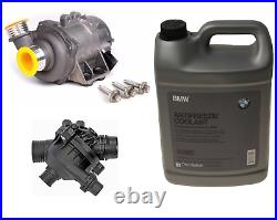 Electric Water Pump + Thermostat + Coolant Kit for BMW Premium Quality