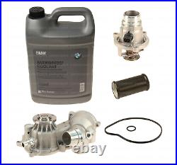 Engine Coolant + Water Pump + Thermostat + Pipe Kit for BMW 550i 650i X5 (06-10)