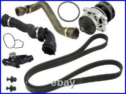 For BMW E46 OEM Cooling KIT Water Pump+Thermostat+Upper & Lower Coolant Hoses