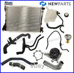 For Jaguar S-Type 3.0 Radiator Water Pump Thermostat Expansion Tank -Coolant Kit