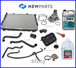 For Mercedes W140 Radiator Water Pump Coolant Hoses Thermostat Tank Antifre. Kit