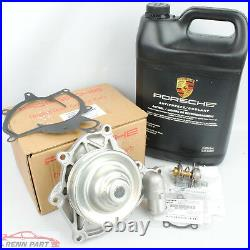 Genuine Porsche Water Pump Kit 997 Turbo & GT3 With Thermostat & Coolant