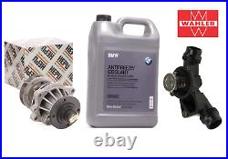 HEPU Water Pump + WAHLER Thermostat + GENUINE Coolant Kit for BMW