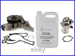 Water Pump + Thermostat Assembly + Coolant Kit OEM for Mercedes select models