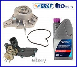 Water Pump +Thermostat + Coolant Kit for Audi 3.0L V6 A6 A7 A8 Quattro Q5 S4 S5